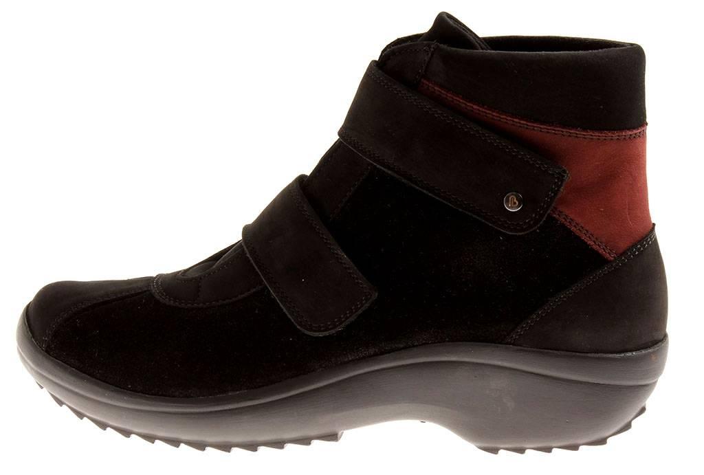 Berkemann Booty Ronda Leder Schuhe Damen Strech 05233 schwarz