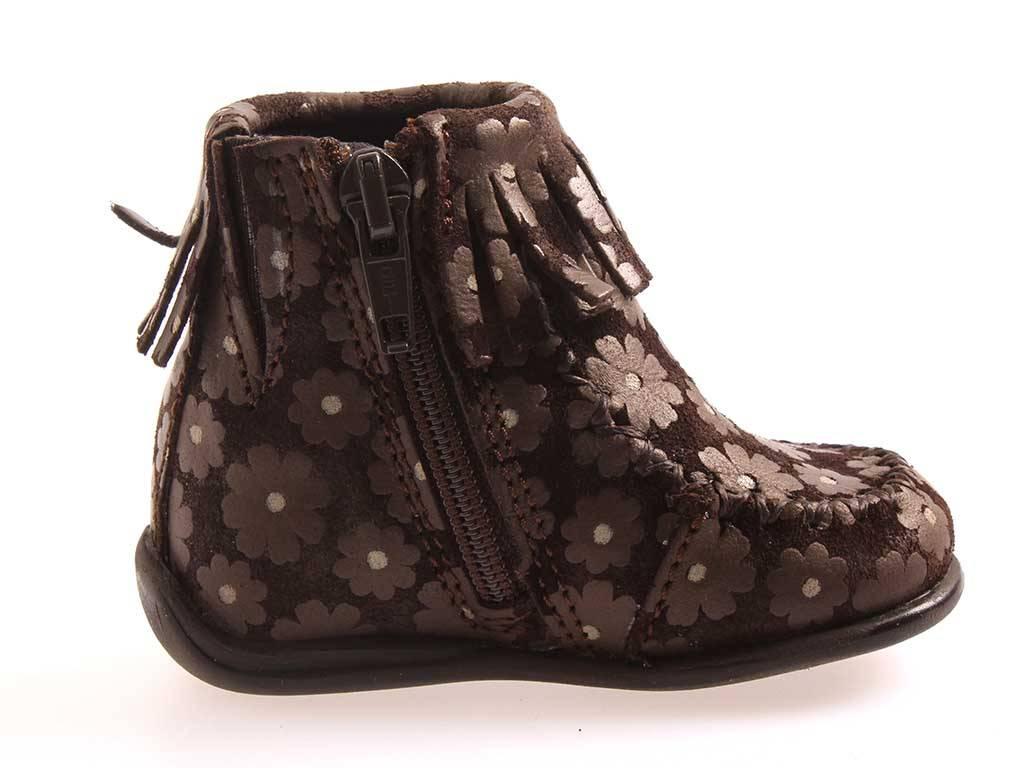Gattino Schuhe Lederstiefelchen Mädchen Leder Mokassin Lauflernschuhe 0.011