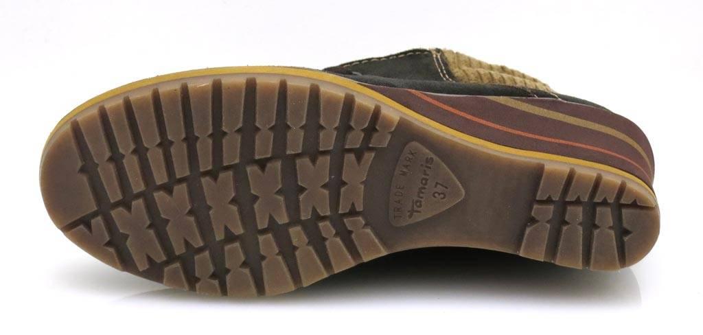 Tamaris Wedge Biseau profondeur Lette Bottine Cuir Bottine Chaussures en cuir 1-25217