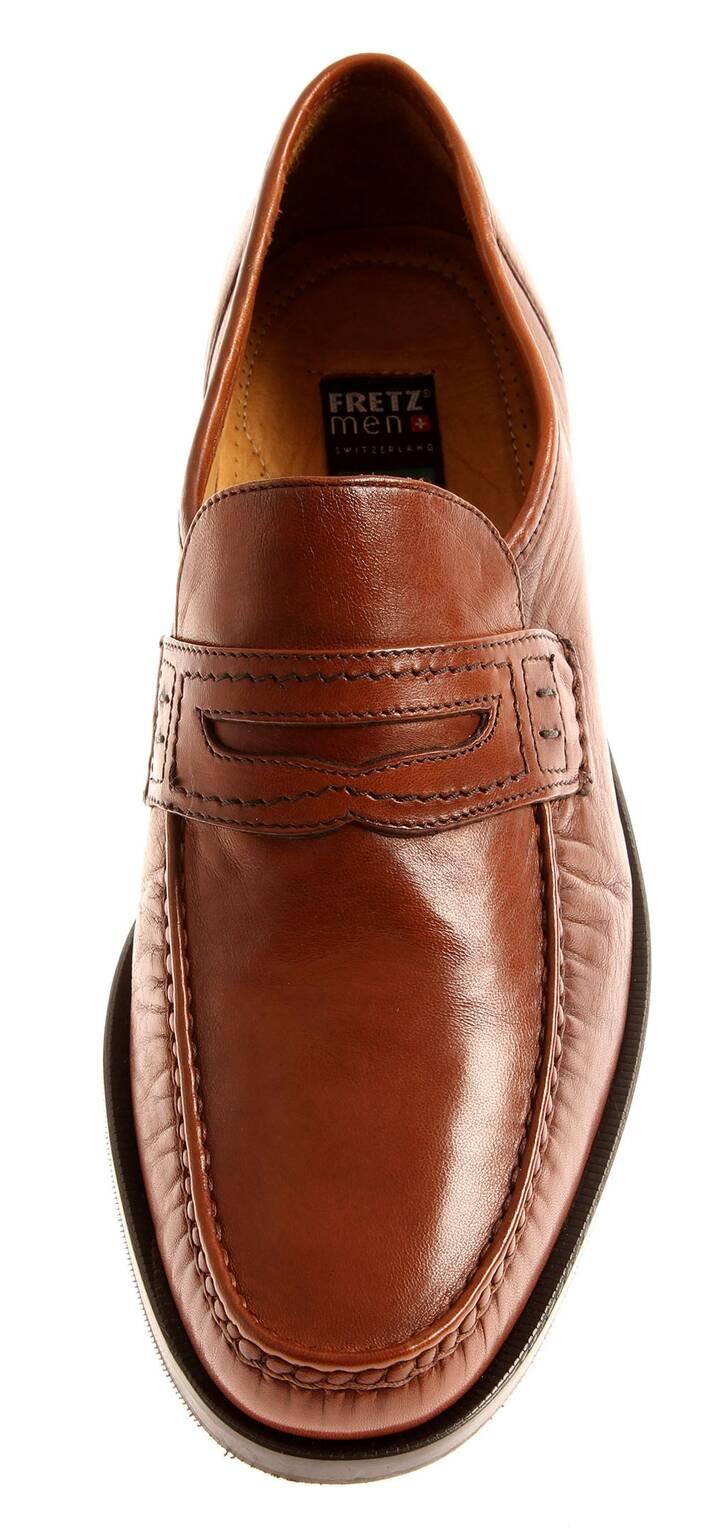 Fretz Men torino señores Glowe clásica zapato bajo mocasines cognac 7011.0472