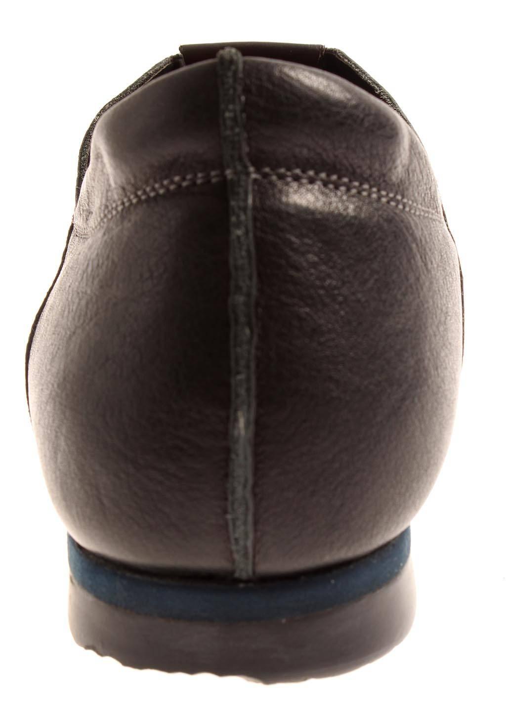 Think elegante Lederschuhe Slipper Leder Schuhe Damen Wechselfußbett 84033
