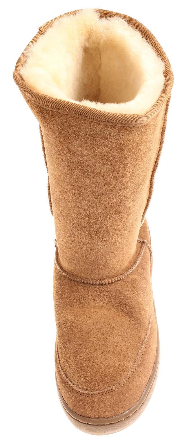 Anky A55800 Damen Lammfelstiefel Winterstiefel Leder Lammfell Boots