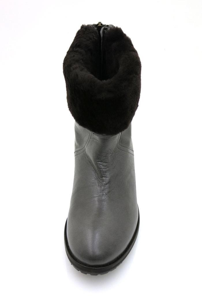 Julie DEE Cuir Bottine Chaussures En Cuir Cuir Bottine peau LAINEE Edel