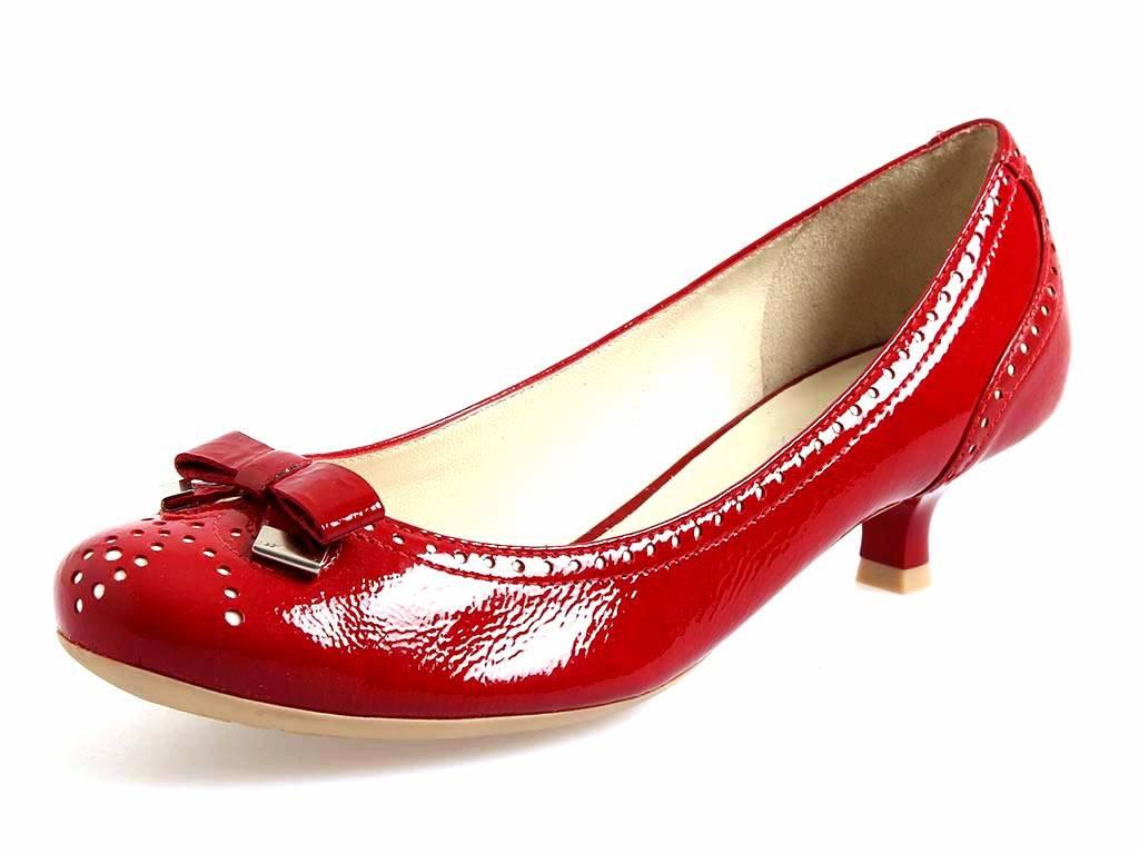 Geox Damenpumps Leder Pumps Lackleder rot schwarz Leder Damenpumps Schuhe 0a44eb