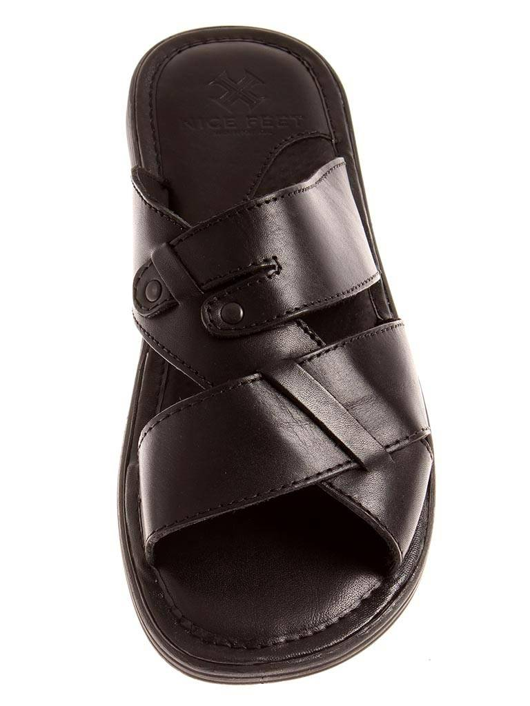 Nice Fee Lederpantolette Leder Schlappen Hausschuhe Pantolette Leder Lederpantolette schwarz 0022 e11ee7