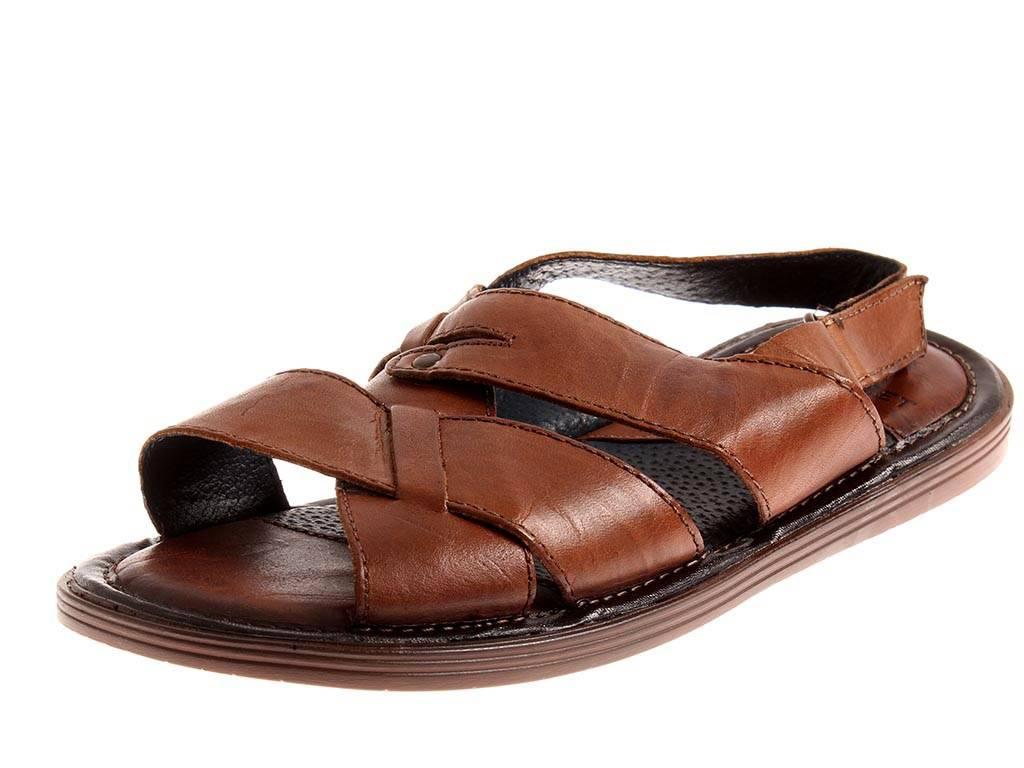 Nice Fee LederSandale Sandalen schwarz Leder Schuhe für Herren schwarz Sandalen camel 0023 5bcfba