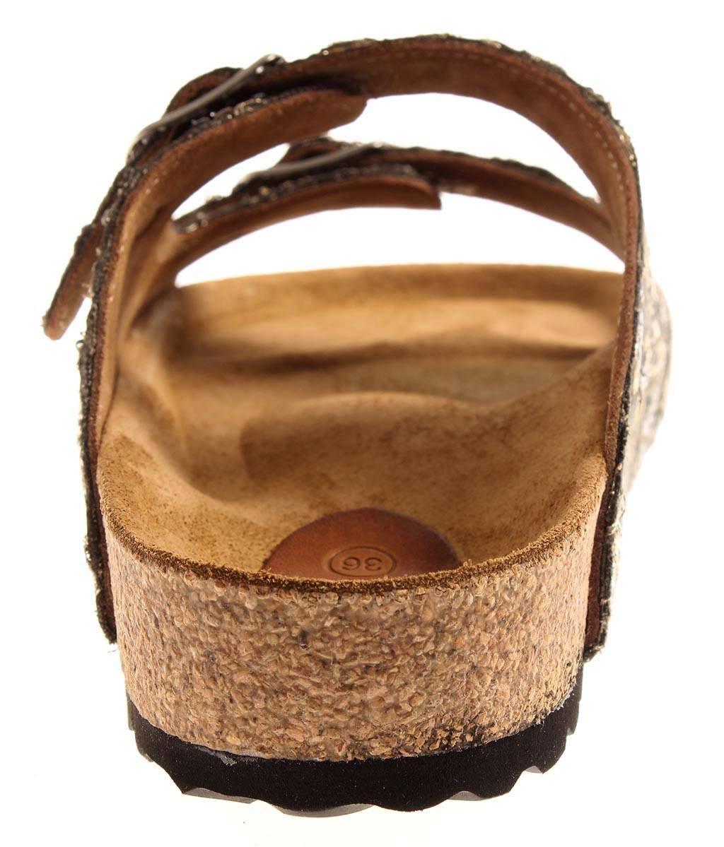 Kathamag Sandali Sandali Pantofole in pelle flaccida Lustrini weichbet da da da donna 5045c9