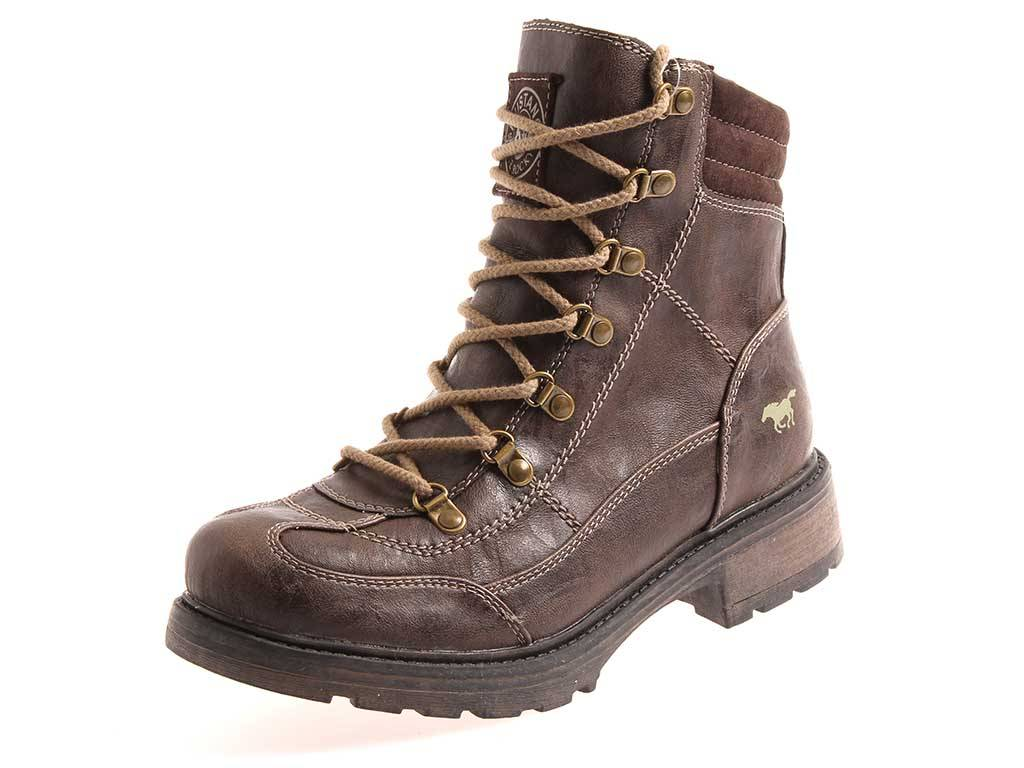 Mustang 1077-603 señora Booty zapatos botín botas marrón oscuro zapatos Booty tex-membrana 02deb5