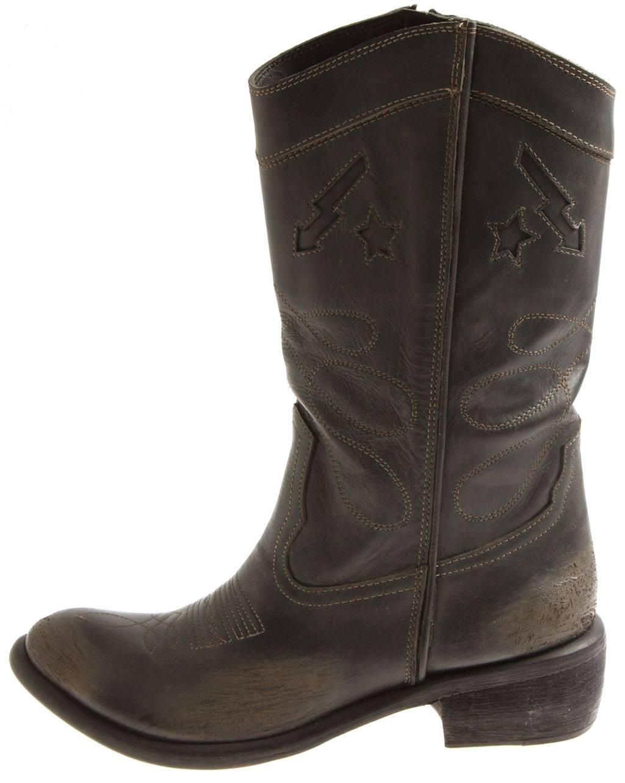 Indexbild 8 - Bronx Damen Leder Cowboy Stiefel 13323 Winterstiefel Schuhe Lederstiefel