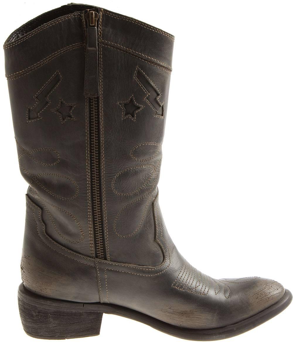 Indexbild 9 - Bronx Damen Leder Cowboy Stiefel 13323 Winterstiefel Schuhe Lederstiefel