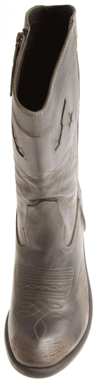 Indexbild 11 - Bronx Damen Leder Cowboy Stiefel 13323 Winterstiefel Schuhe Lederstiefel