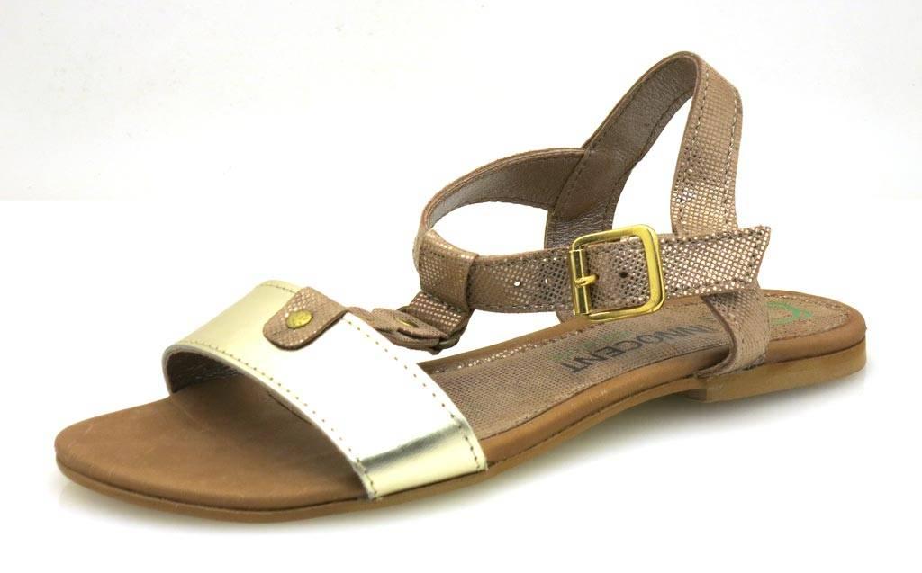 Innocent confort sandales SANDALE EN CUIR CHAUSSURES EN CUIR été bois 184-ad04 - ouro / léopard, 36 EU