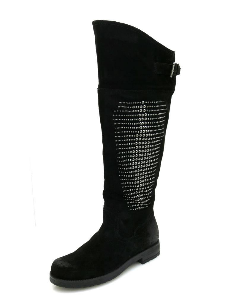 Marc Schuhes Damenstiefel Lederstiefel Leder Stiefel Leder Lederstiefel schwarz Wildleder 0de077