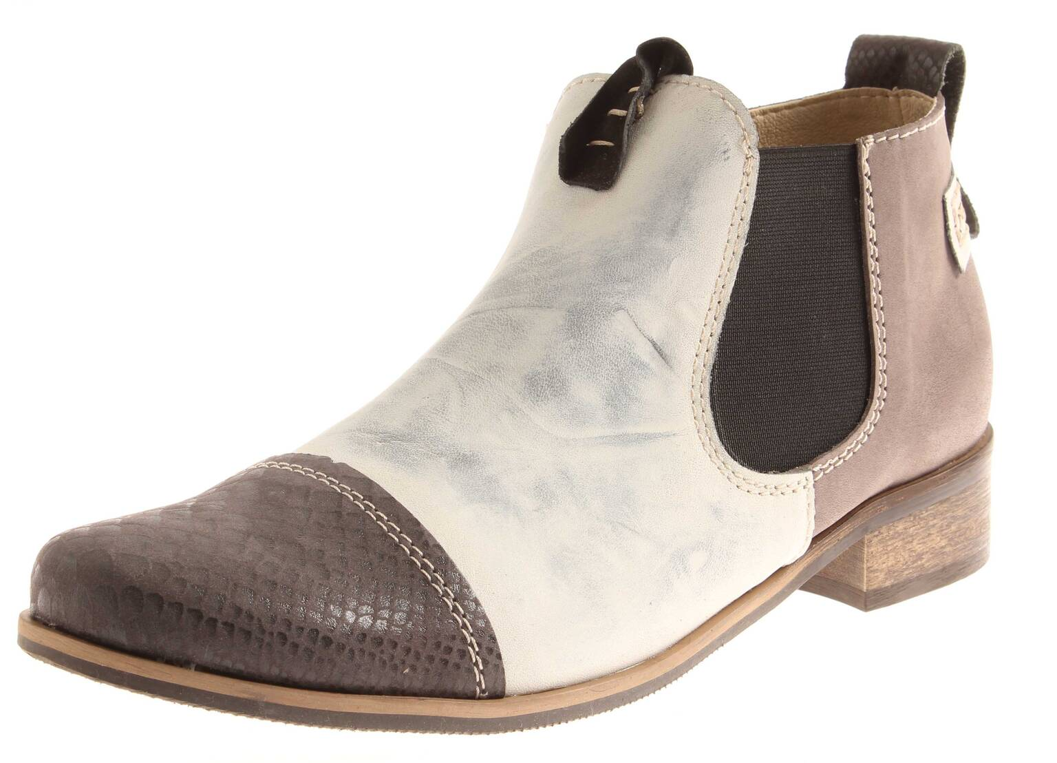 low priced bb5a0 230d7 Detalles de Miccos Clásico Chelsea Boots Botines Zapatos Piel Mujer