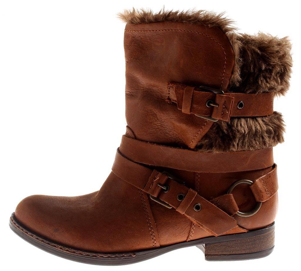 Bullboxer warme Lederstiefelette Leder Schuhe 2292 Damen gefüttert cognac 2292 Schuhe 25e547