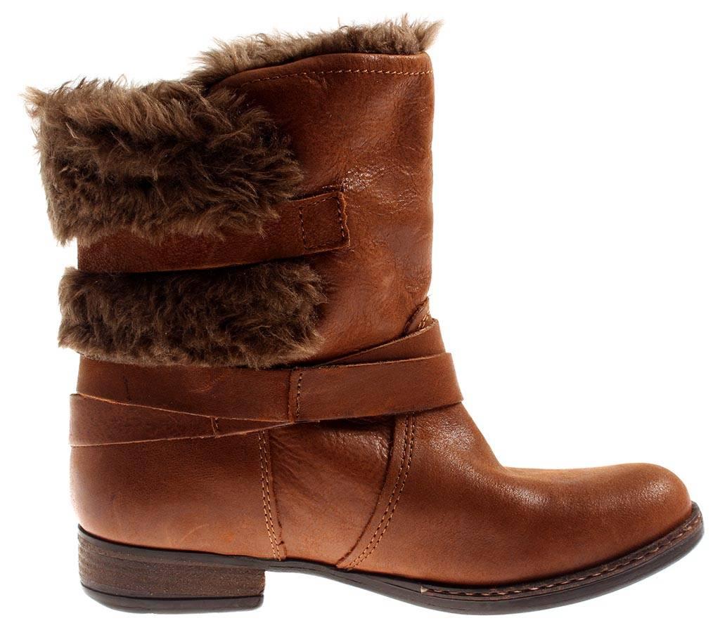 Bullboxer warme Lederstiefelette Leder 2292 Schuhe Damen gefüttert cognac 2292 Leder e8278d