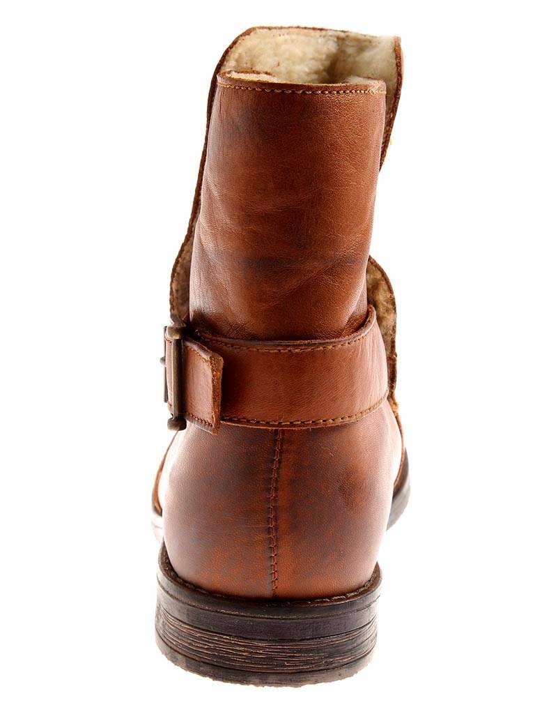 Kimkay warme Lederstiefelette cognac Leder Schuhe Damen gefüttert cognac Lederstiefelette 2297 dcac3f