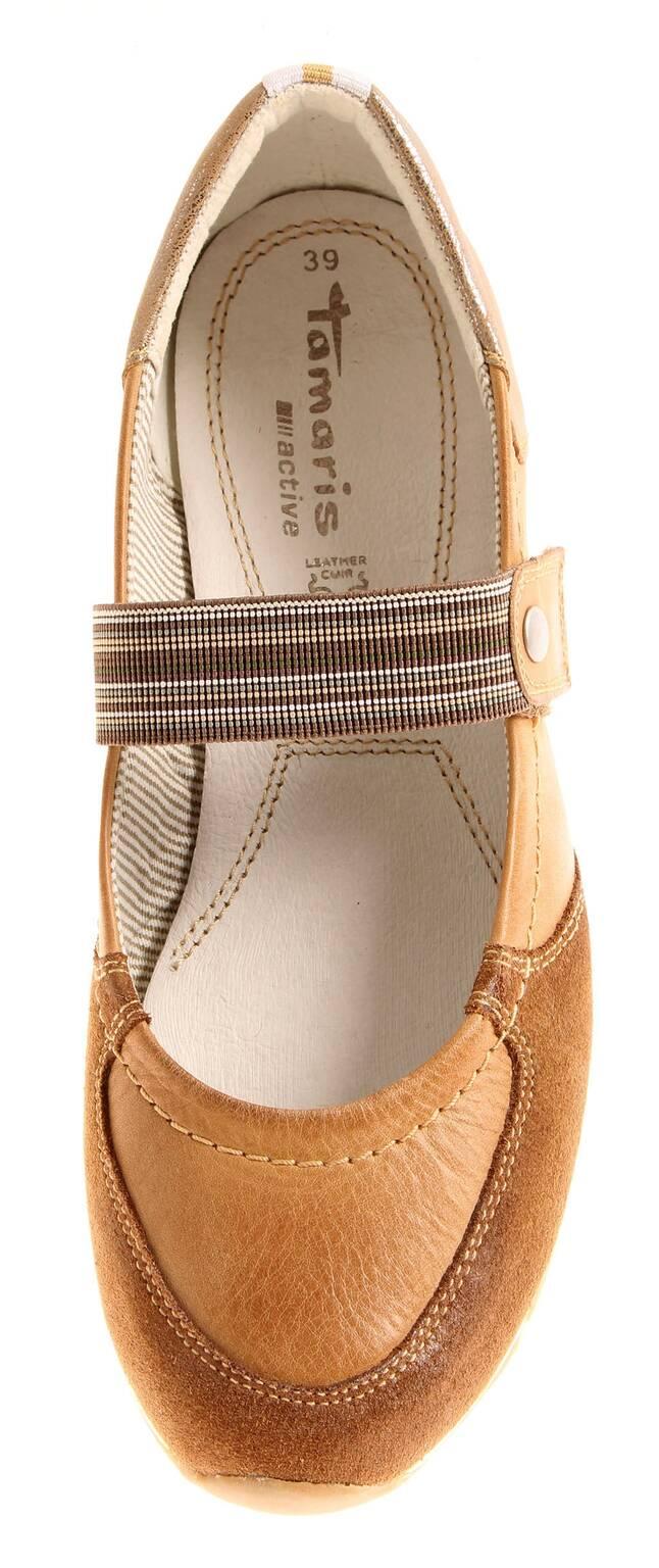 Tamaris Tamaris Tamaris Ballerina Sommer Damenschuhe Damen Schuhe Leder 1-24610 56bbd8