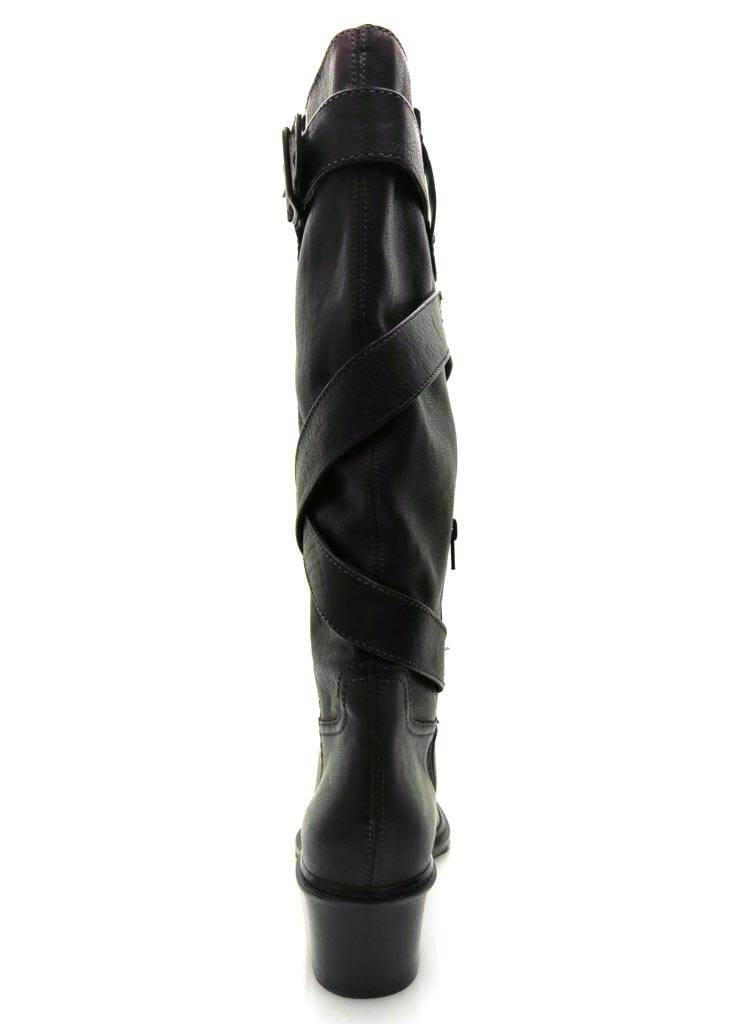 Ykc & co co & botas de cuero botas señora botas de cuero Lang caña botas marrón 5145aa
