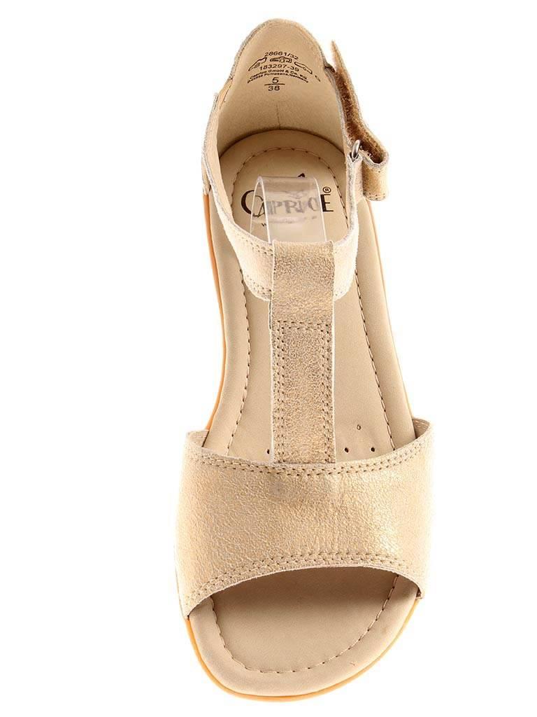 Caprice Leder Sandalen Damenschuhe Schuhe 9-28661 Leder Caprice light gold 25c13c