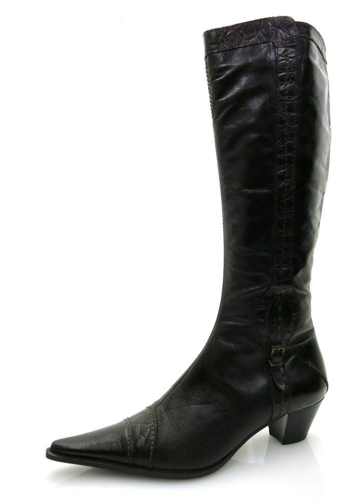 Lamica Langschaftstiefel Lederstiefel Stiefel Damenschuhe Lederschuhe Schuhe NEU