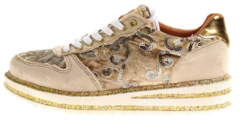 Nice Feet Leder 3120 Damen Sneaker Schnürer Kinderschuhe Leder Feet Freizeitschuhe Pailette 7d7c4c