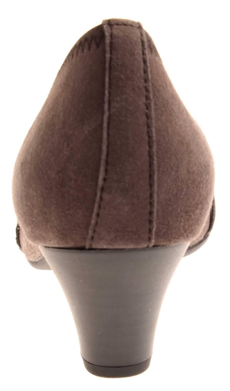 Gabor Damenschuhe Pumps Leder Damen grau Lederpumps Damen Leder 35.485 97fd55