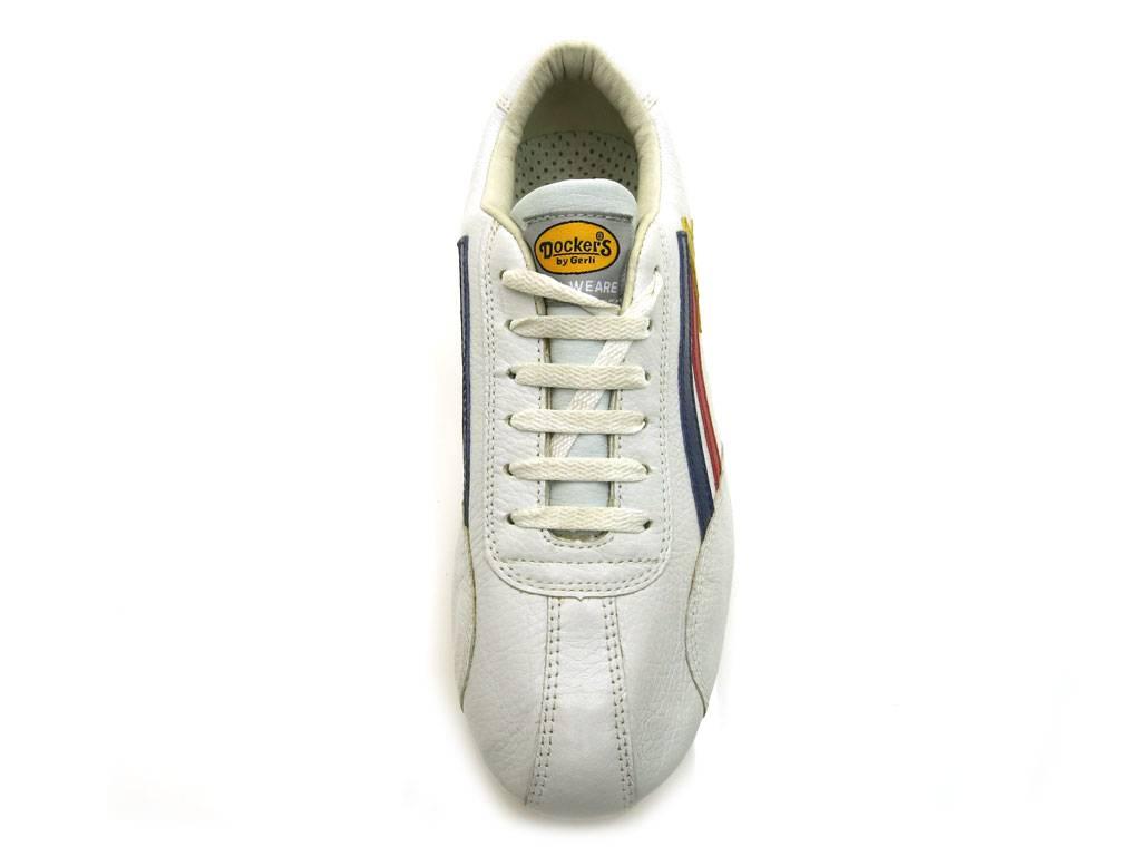 Dockers Herrenschuhe Sneaker Leder Ledersneaker Schnürer schwarz weiß Ledersneaker Leder 4395 44e076