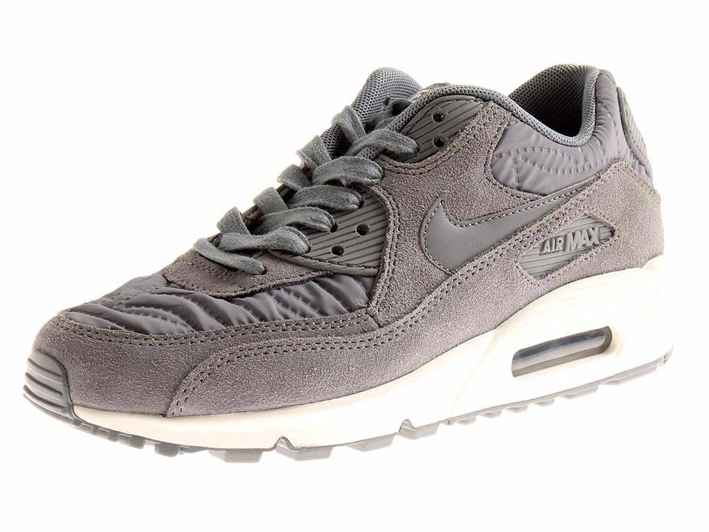 finest selection 73daa 698ca Details about Nike Trainers Air Max 90 Premium Women s Shoes Sports Shoes  Shoes Grey
