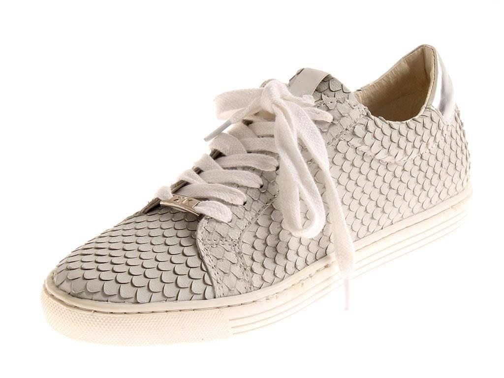 KimKay Ledersneaker Sneaker Lederschuhe Damen sportlich light Grau 4929