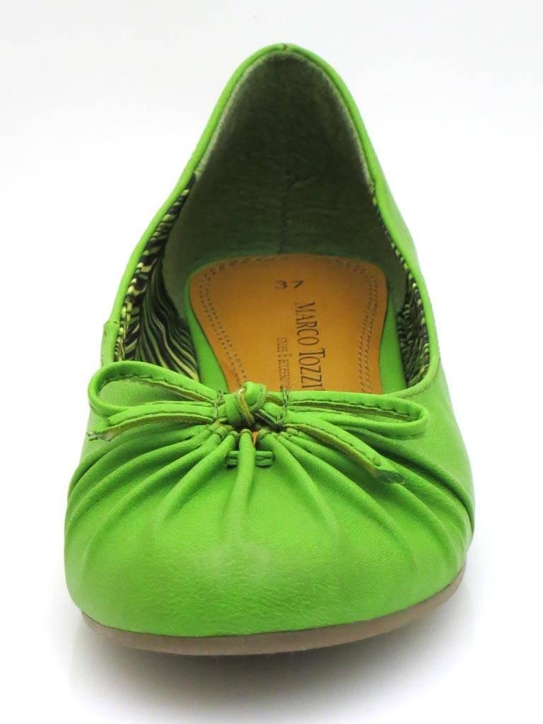 d2f173940dfd Details zu Marco Tozzi Ballerinas Sommerschuhe Damenschuhe weiß grün Schuhe  5059