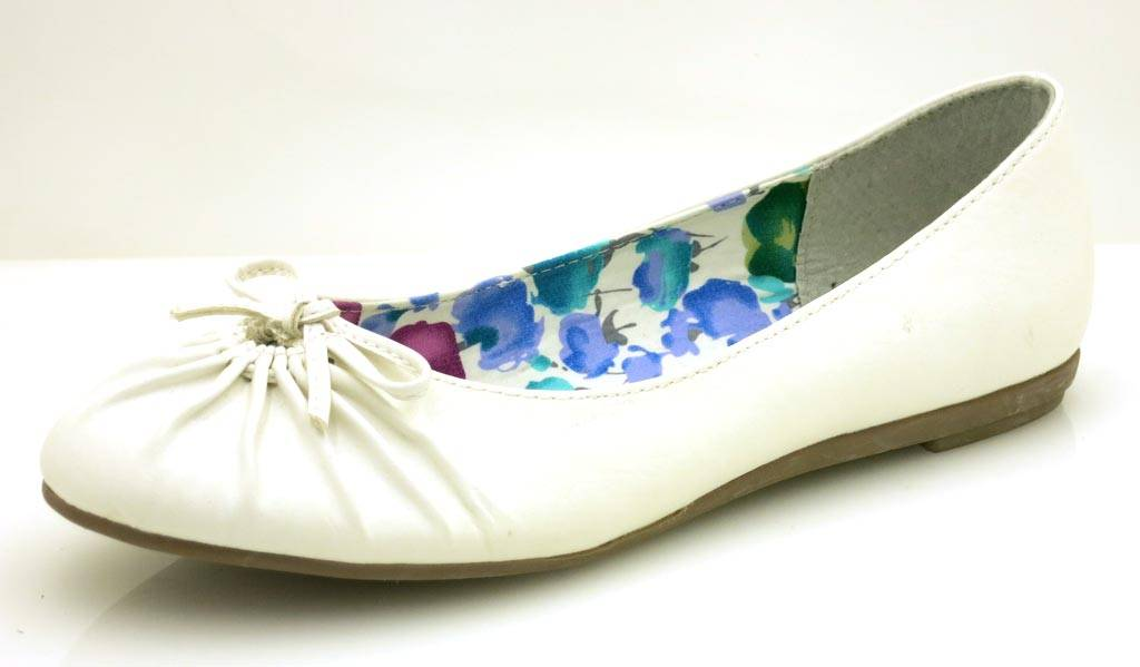394b03a83154 Details about MARCO TOZZI BALLERINAS SHOES Ladies  Shoes White Green Shoes  5059