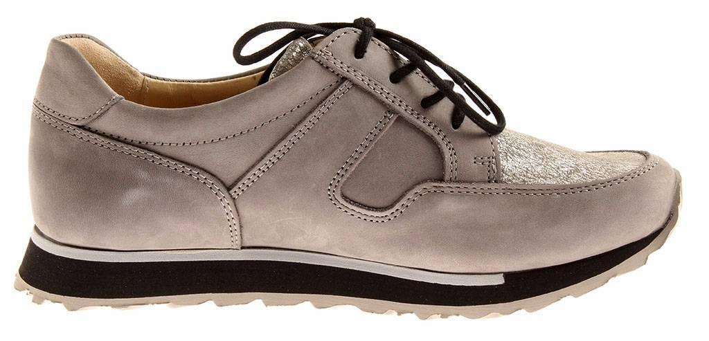 Wolky bequeme Ledersneaker E Walk Grau Schuhe Schnürer Einlagen 5800 Grau Walk e09a8d