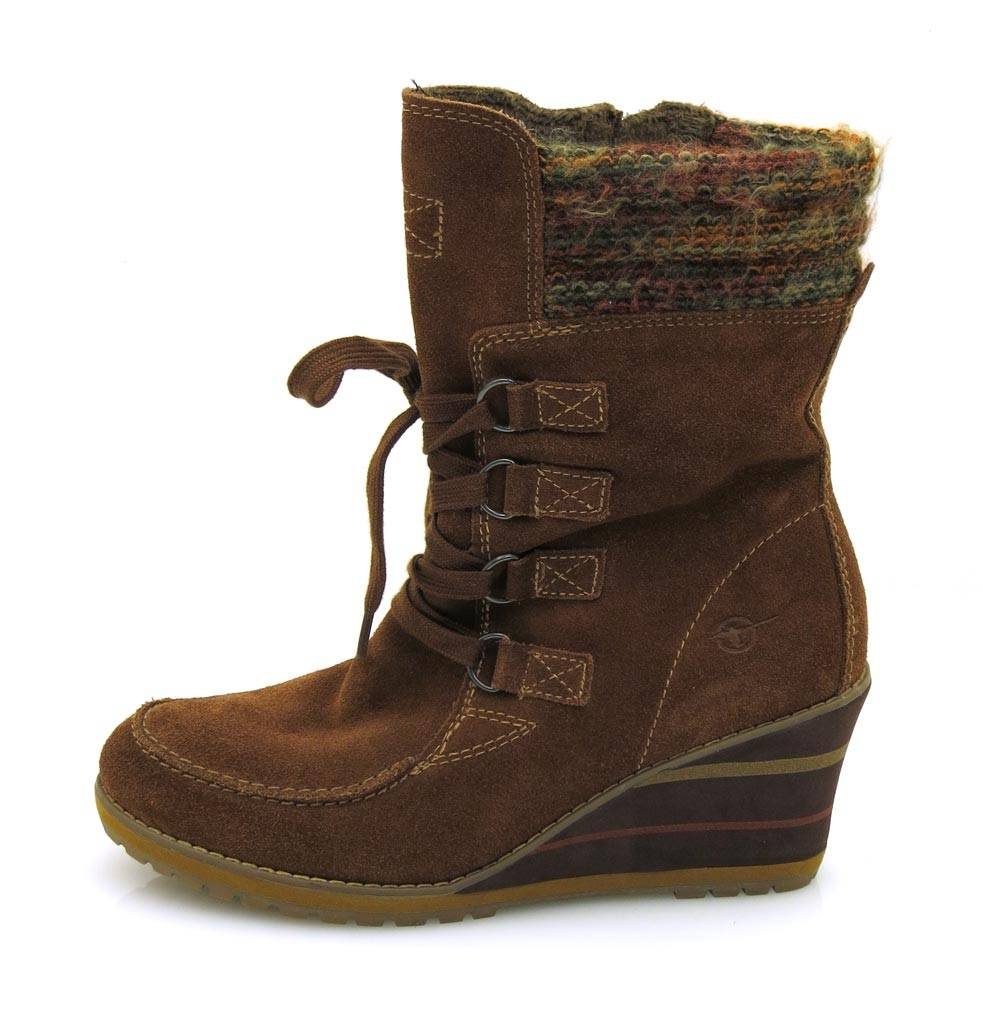 Tamaris Wedge Leder Keilstiefel Stiefel Lederstiefel Leder Wedge Schuhe f9160b