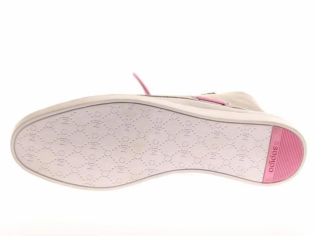 Adidas Calneo Sail Mid W hellgrau Segelschuhe Leder Schuhe Damen hellgrau W 6768 fc3690