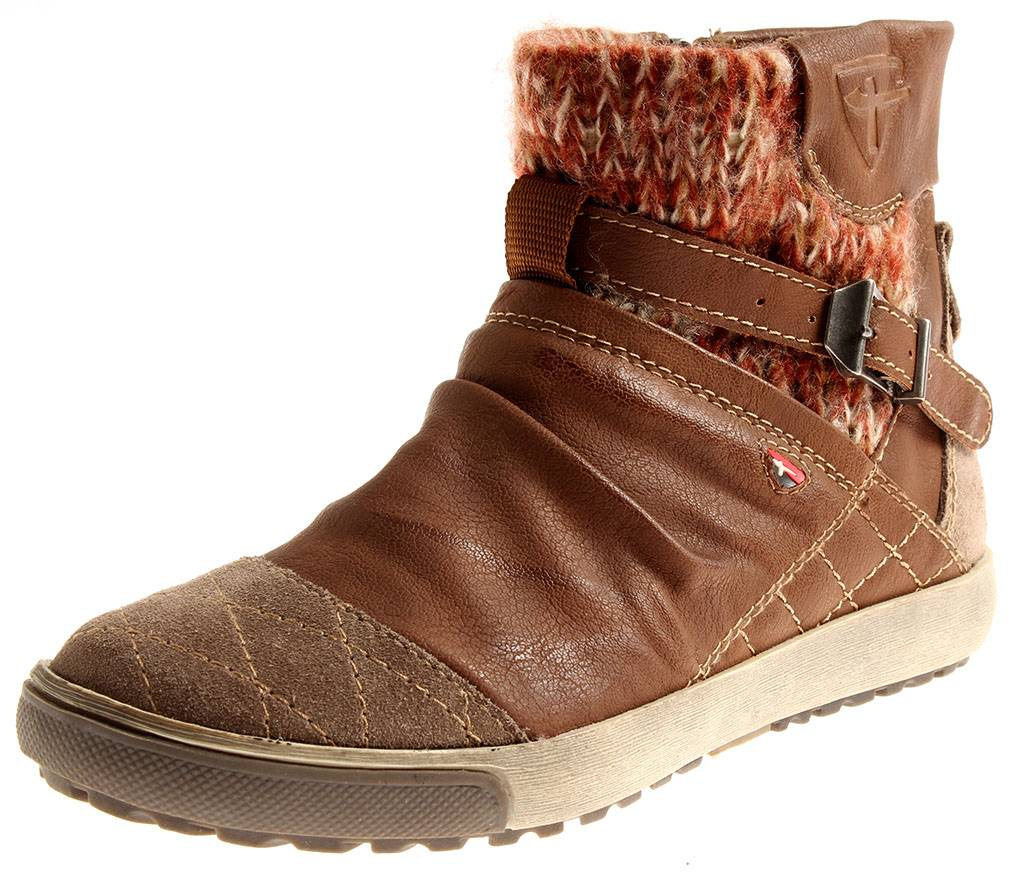 Tamaris-Damenbooty-1-25463-Double-Chaussures-pour-Femmes-Schnurboot-Bottine