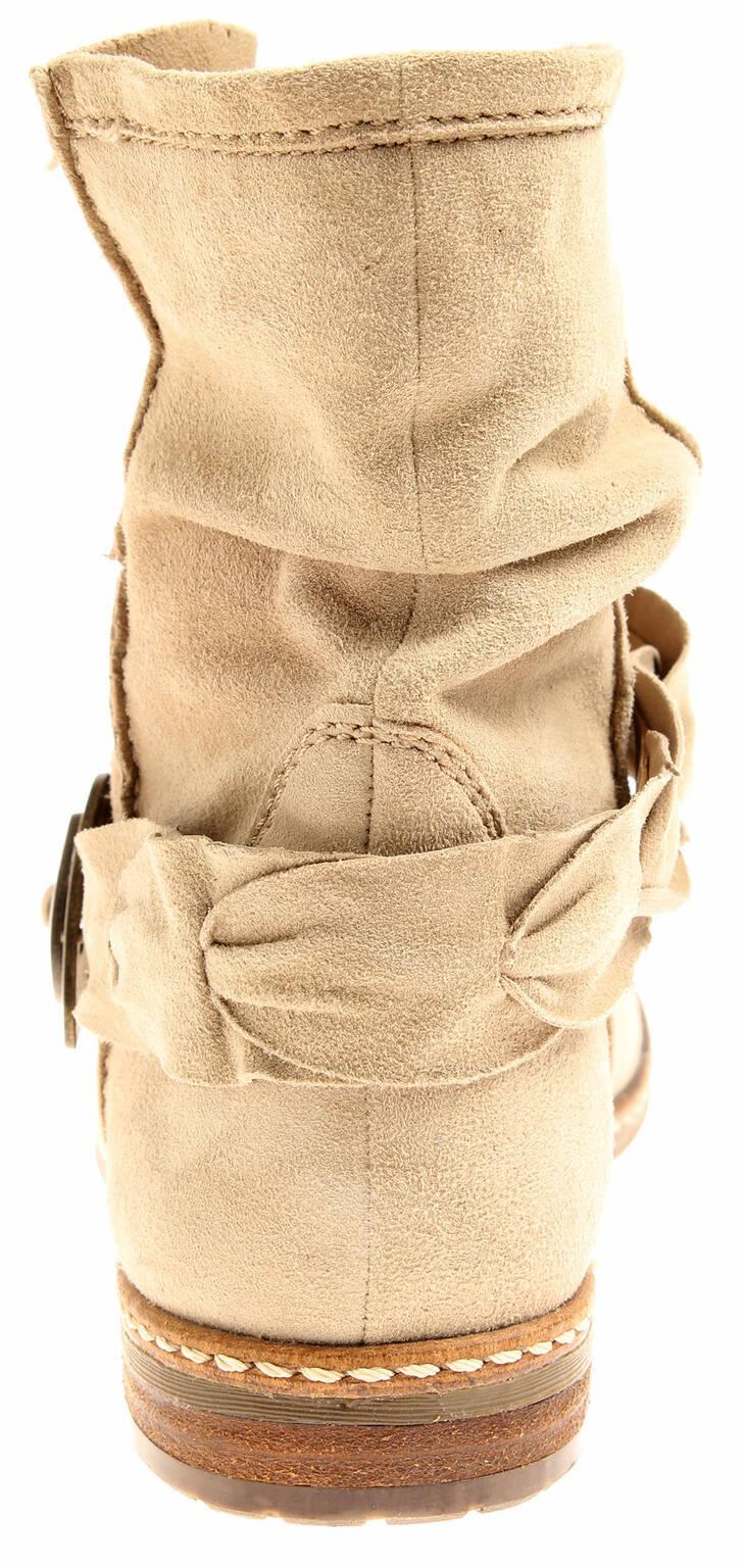 Details about Spm Ladies 7434 7432 Leather Ankle Boots Biker Shoes