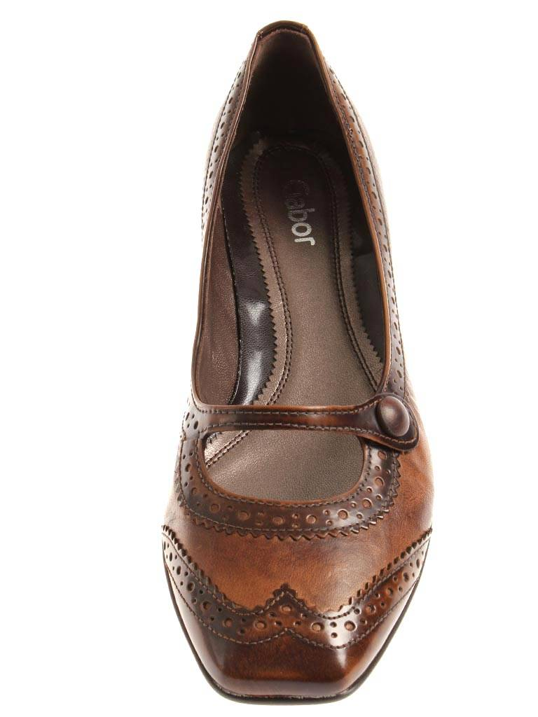 reputable site 4ed5a a093d Details zu Gabor Damenschuhe Pumps Leder Mary Jane fango cognac 75.290