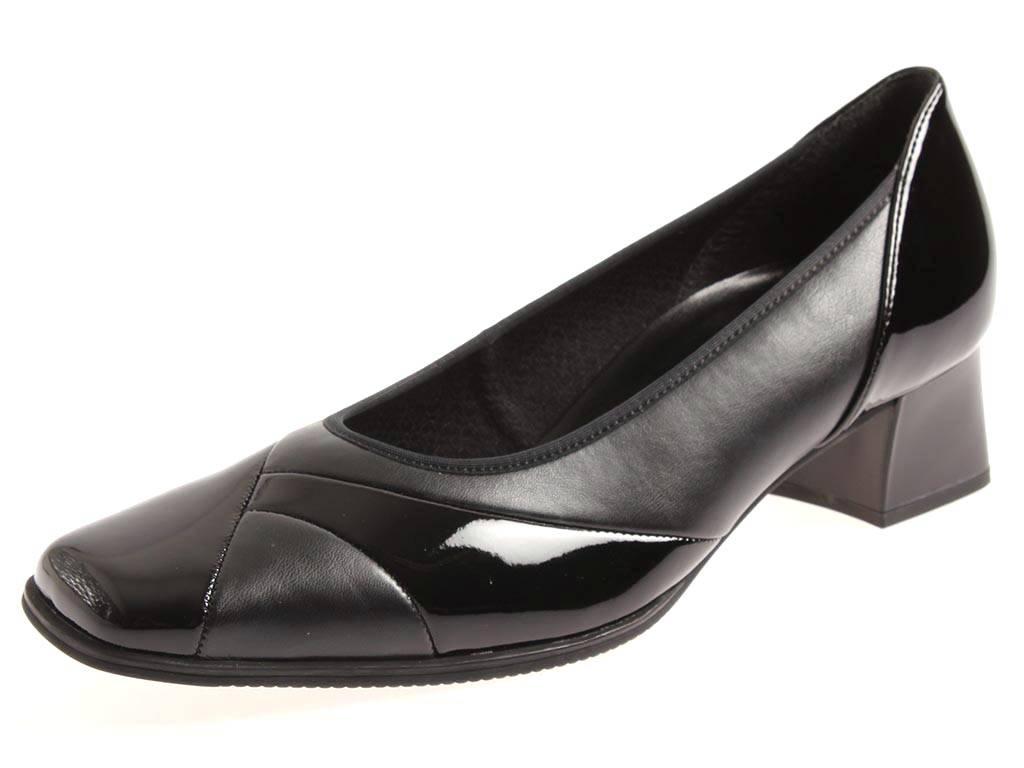 Gabor Damenschuhe schwarz Pumps Leder Schuhe Lackleder schwarz Damenschuhe 76.193 f7d37c