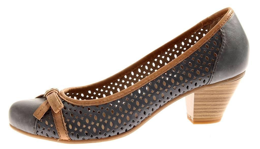 Jana Pumps Schuhe Lederschuhe 8-22319 geschlossen Leder Schuhe Pumps Damen Business 283149