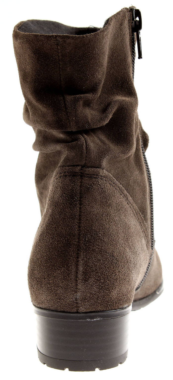 Jana Damen Schuhe 8056 Stiefelette Leder Schuhe Damen Bootie Kurzstiefel Wildleder 65fd7c