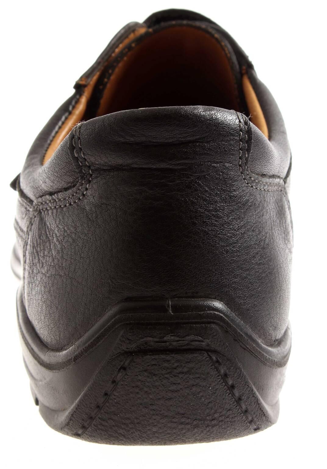 Jomos Herrenschuhe Germany Lederhalbschuhe Herrenschuhe Jomos Leder Schuhe Klett schwarz 2dd928