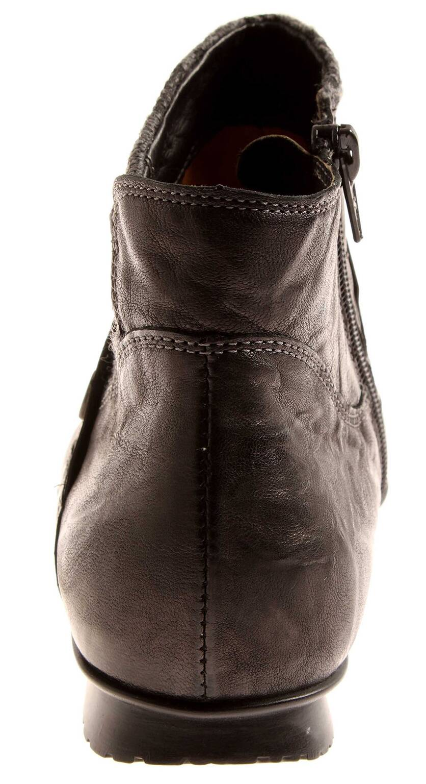 innovative design 61f50 43653 Details zu Think! Stiefeletten Lederschuhe Damen Schuhe Leder CHILLI 83116