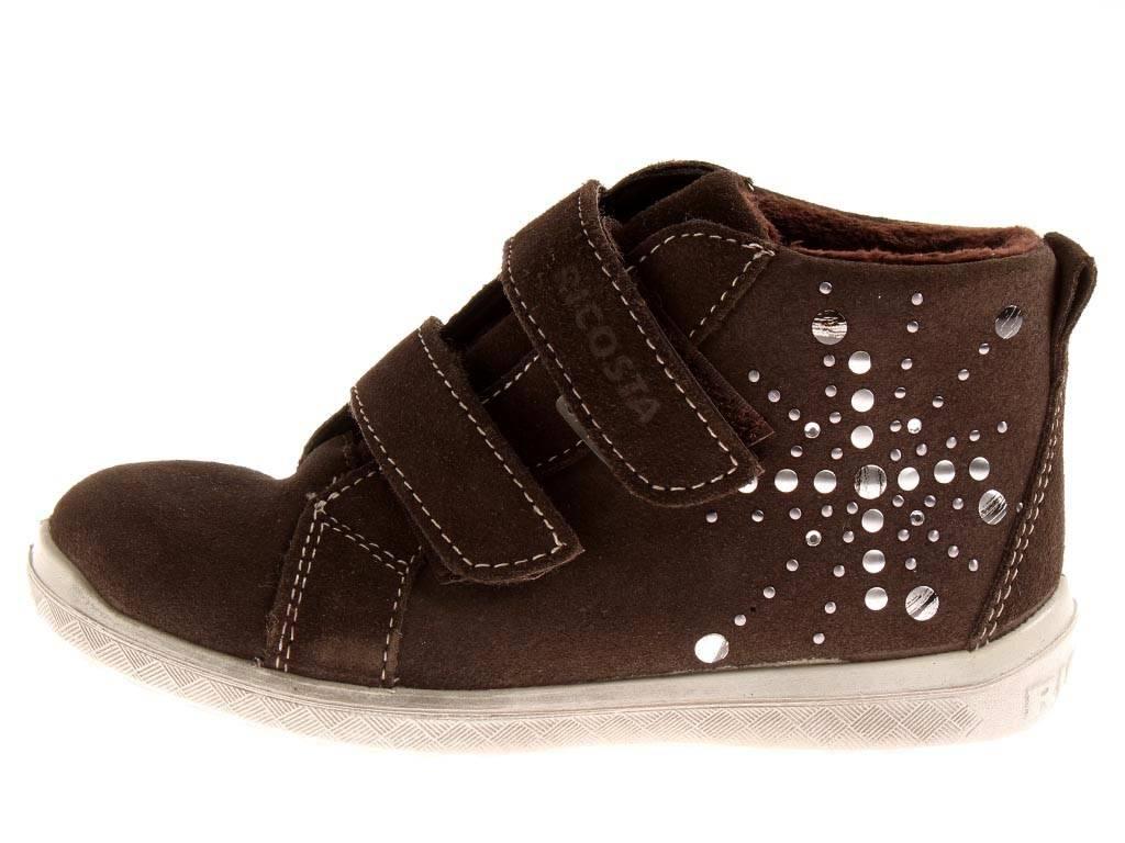 newest ef452 a9b42 Details zu Ricosta Verena gefütterte hohe Sneaker Leder Schuhe braun  Mädchenschuhe