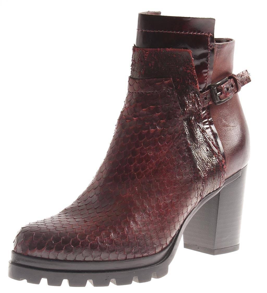 Isabelle lederstiefelette botines zapatos  SEÑORA óptica dragón dragón óptica cuero bote vino 580b24