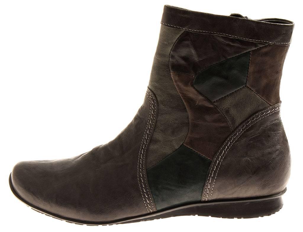 Think  87108 Piment Bottines Femme Chaussures en en en Cuir Chaussures en Cuir 8f7968