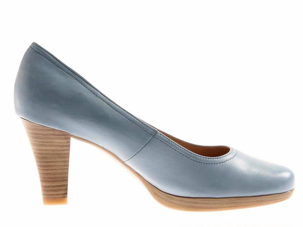 CAPRICE Escarpins shoes pour pour pour women talons hauts en cuir 9-22406 Sky bluee 0a9a00