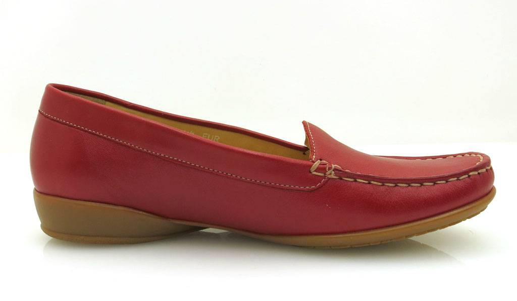 Mephisto Slipper Mokassin Lederschuhe rot für Damen Nedda Barbela rot Lederschuhe weiß 519c94