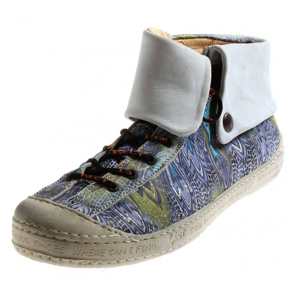 Eject High Top Sneaker aus Leder