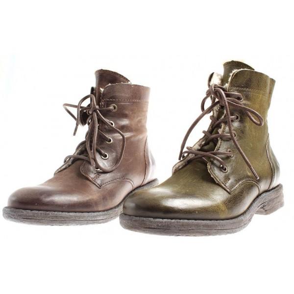 Isabelle Worker-Boots aus Leder